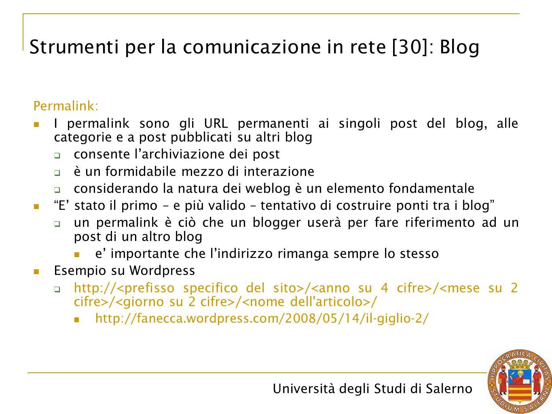 Strumenti per la comunicazione in rete [30]: Blog